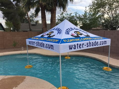 Floating Pool Shade Canopy   Swim In The Shade