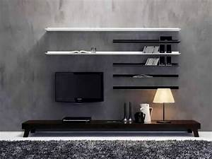 7 cool contemporary tv wall unit designs for your living room With modern set of living room furniture wall tv unit