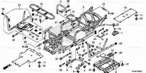 Honda Side By Side 2014 Oem Parts Diagram For Frame