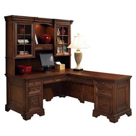 l shaped executive desk with hutch corner l shaped office desk with hutch black and cherry
