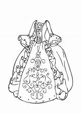 Coloring Pages Dresses Pretty Getcolorings sketch template