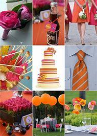Pink and Orange Wedding Colors
