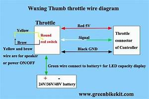 Wuxing Thumb Throttle With Battery Switch And Battery