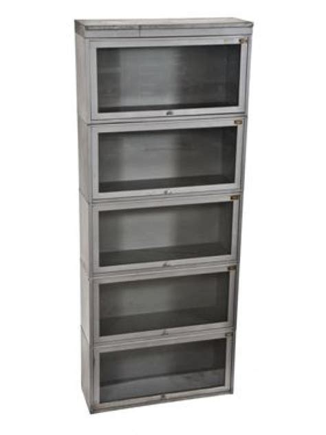 Steel Barrister Bookcase by C 1940 S Stackable Five Unit Barrister Steel Bookcase