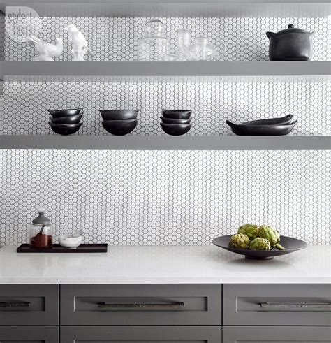 backsplash tile design house tour rustic and refined home honeycombs kitchen
