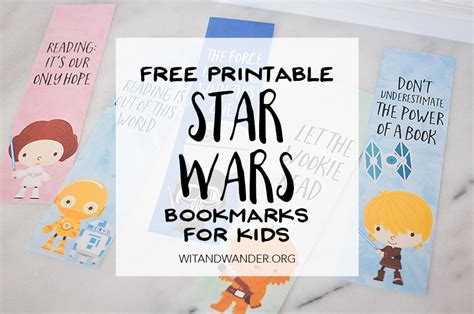 star wars bookmarks  printables  kids