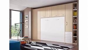 Lit Armoire Escamotable : chambre avec lit armoire escamotable horizontal glicerio ~ Dode.kayakingforconservation.com Idées de Décoration