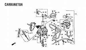 Honda Atv Carburetor Diagram