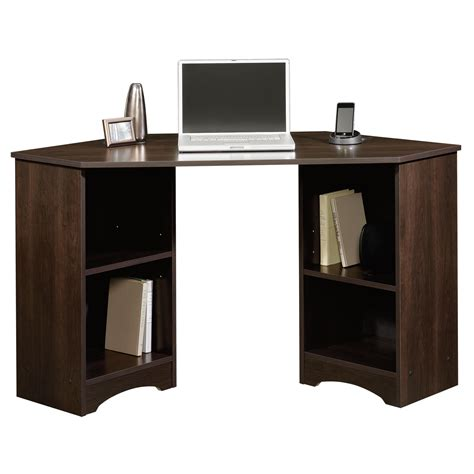 bureau cinnamon beginnings corner desk 413073 sauder