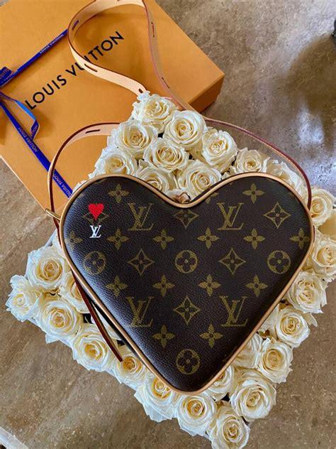 pursebop reveals  louis vuitton  heart shaped monogram bag