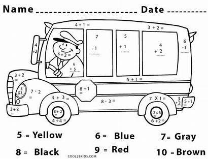 Math Coloring Pages Worksheet Number Middle Worksheets
