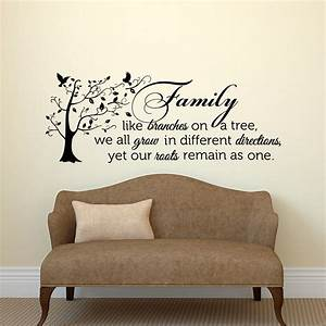 family wall decal quote family like branches on a tree vinyl With family wall decal