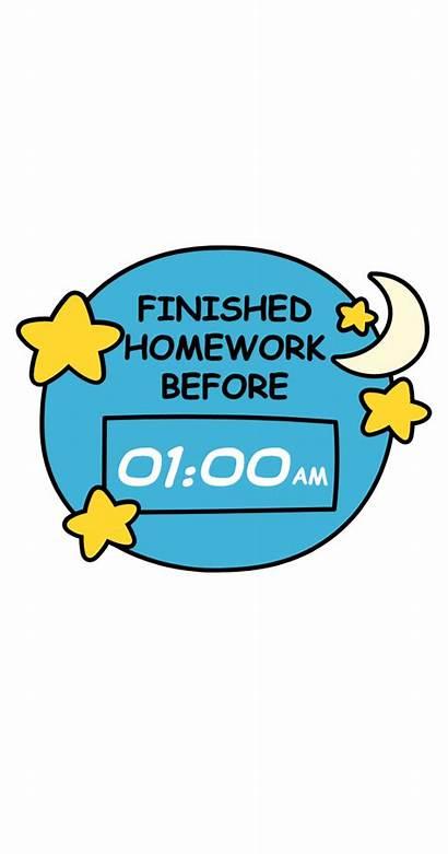 Finished Homework Before Sticker