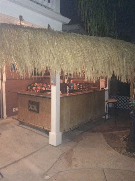 Tiki Bar Thatch For Sale by Tiki Bar And Thatched Roof From Customer Glenn