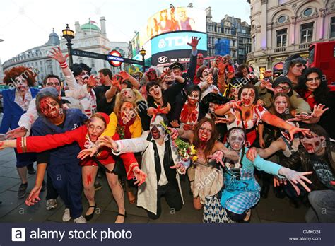 zombies london participants dressed 2nd alamy november