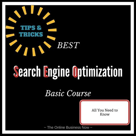 Best Search Engine Optimization Seo Basic Course The