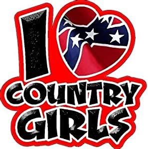 foto de Amazon com: I Love Country Girls Car Decal Truck Sticker