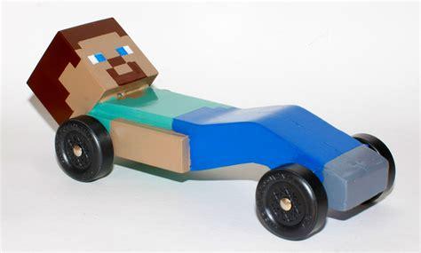 minecraft car design so my son wanted a minecraft pinewood derby car this year