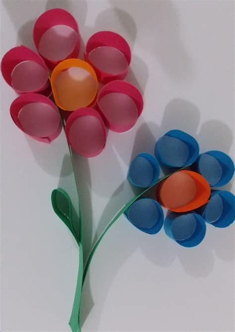 flower paper craft construction paper crafts
