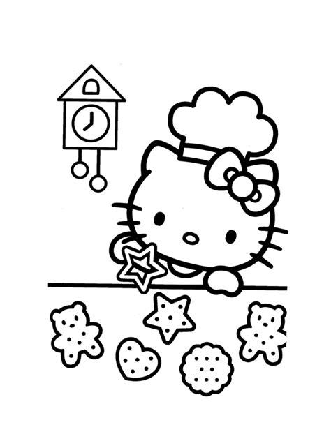 dessin de cuisine à imprimer coloriage hello fait des gâteaux hello