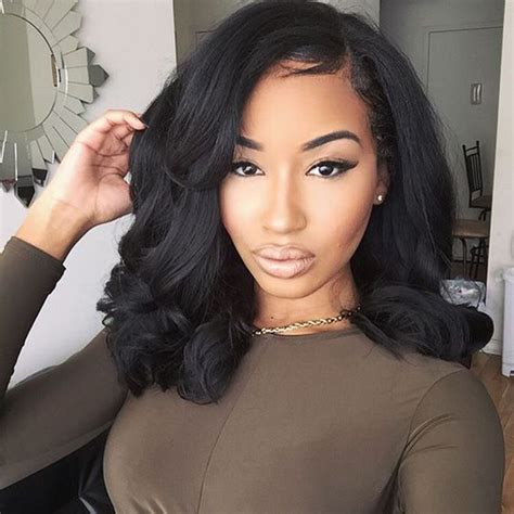 10 Inch Sew In Hairstyles by Best Quality Wave Lace Front Wig With Baby Hair