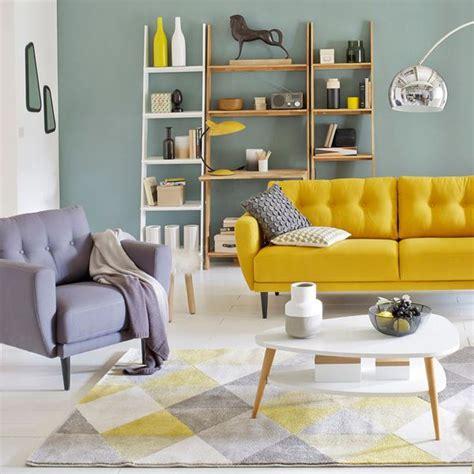 loupe bureau déco du salon en couleur gris orange bleu