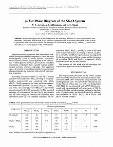 Pdf  P U2013t U2013x Phase Diagram Of The Sb U2013o System