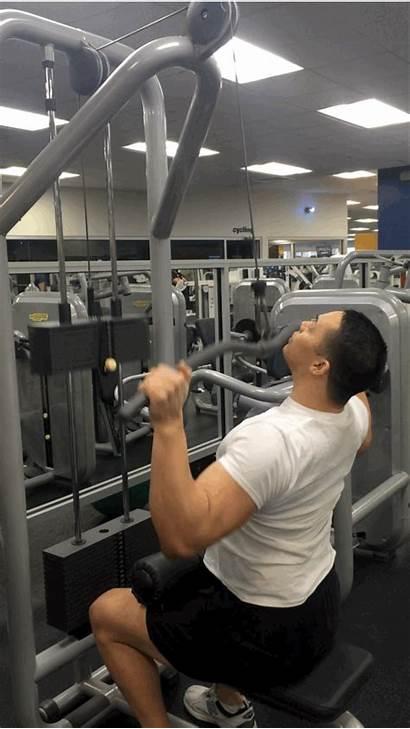 Seated Gym Machine Lat Weight Pulldown Leg