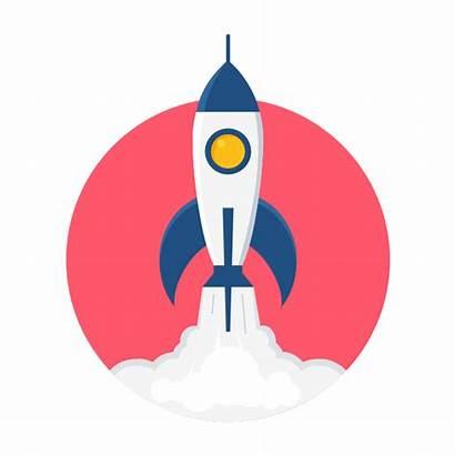 Icon Management Project Start Vector Rocket Stencils