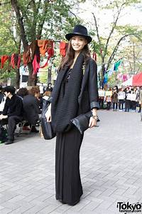 Stylish Smiling Tokyo Girl W HM Dress Cowl Scarf
