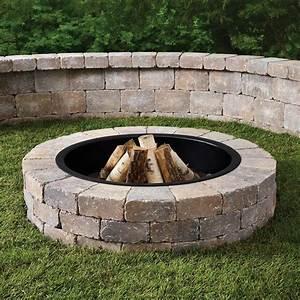 Round, Stone, Fire, Pit, Kit