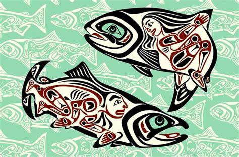 salmon dance chiin xyaalaa   april white native art