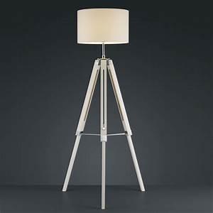 Lampe Mit Holzfuß : stehleuchte mit holzfu stehlampe tripod standlampe lampe licht leuchte ebay ~ Eleganceandgraceweddings.com Haus und Dekorationen