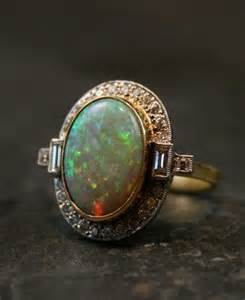 pearl engagement rings bad luck vintage opal deco ring opals antique engagement rings deco