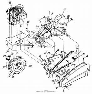 Mtd 215-420-016  1995  Parts Diagram For Rear Tine Tiller