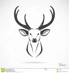 Deer Head Outline Tattoo Vector image of an deer head | Do ...