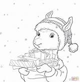 Llama Coloring Pages Printable Pajama Drama Christmas Holiday Activities Printables Gifts Sheets Pajamas Cn Tower Regard Getcolorings Coloringhome Guinea Pig sketch template
