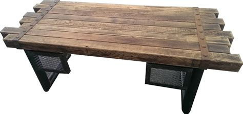039 rustic steel and cedar timber desk industrial