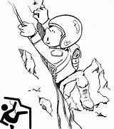 Coloring Climbing Rock Cartoon Pages Extreme Sports Ages Sport sketch template