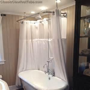 bathroom accessories ideas clawfoot tub deckmount shower enclosure combo w gooseneck