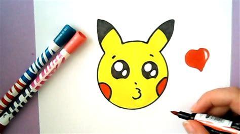 einfache bilder zum malen kawaii pikachu emoji selber malen