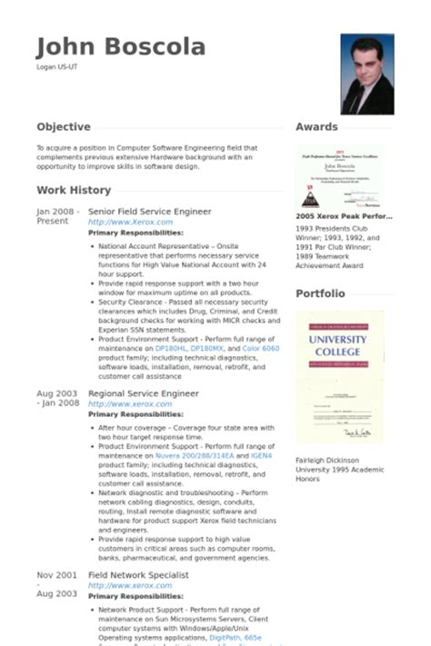field service engineer resume sles visualcv resume