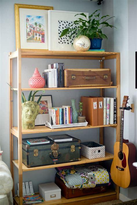 livingroom shelves domestic fashionista decorating around the tv and a shelf