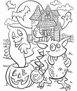 Haunted Coloring Halloween Pages Crayola Cute Colouring Sheets Adults Printable Scary Getcoloringpages Hundertwasser Print Witch Adult Printables Template Fall Fun sketch template