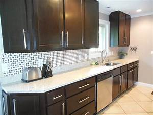 kitchen contemporary kitchen backsplash ideas with dark With best brand of paint for kitchen cabinets with huge metal wall art