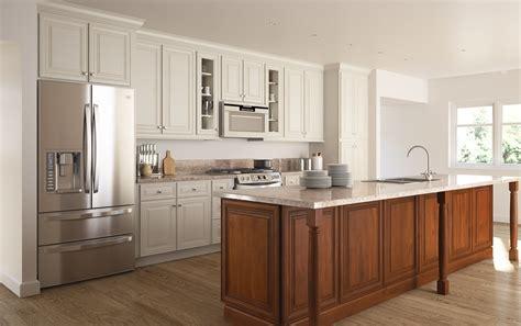 cambridge antique white glaze ready  assemble kitchen