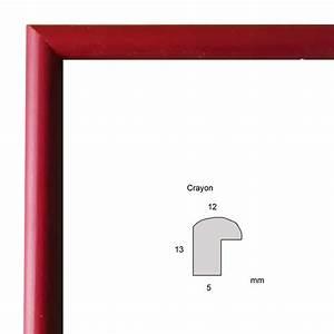 Cadre Photo Sur Mesure : cadre sur mesure crayon bordeaux baguette fine classique ~ Dailycaller-alerts.com Idées de Décoration