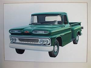 1960 Apache Drawing For Chevy Marketing Purposes  Ultimately Not Used   Too Bad