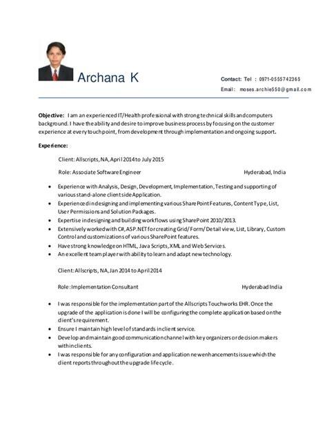 sharepoint developer resume resume ideas