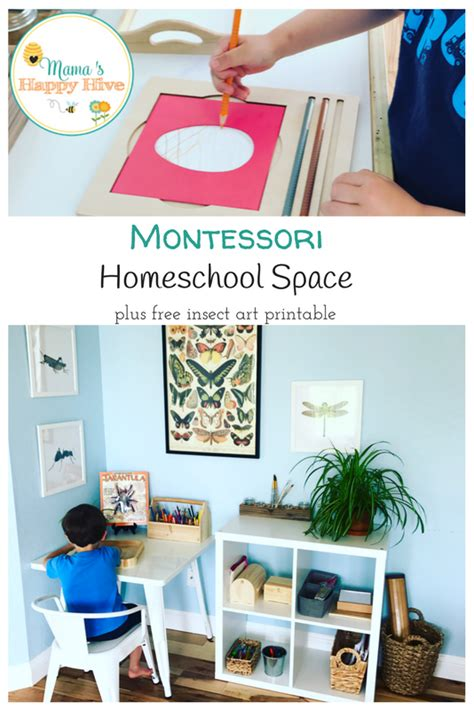 montessori inspired homeschool space with a free insect 192 | Homeschool Space 2 1